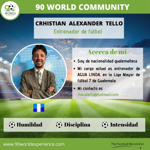 Crhistian Tello Perfil Pro - 90 WE