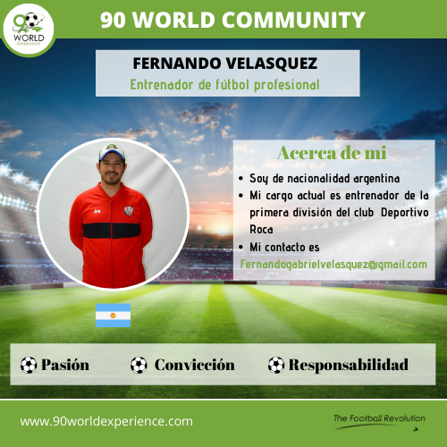 Fernando Velasquez - Perfil Pro - 90 World Experience