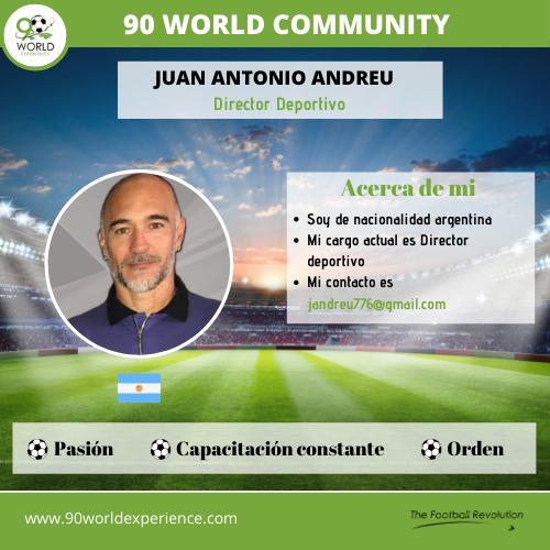 Juan Andreu - perfil pro - 90 world Experience