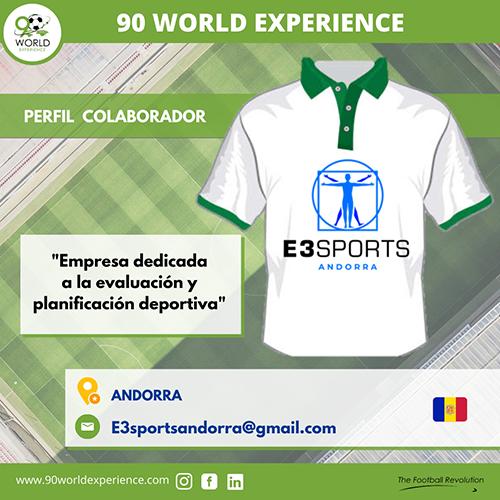 Perfil Colaborador E3Sports Andorra - 90 WE